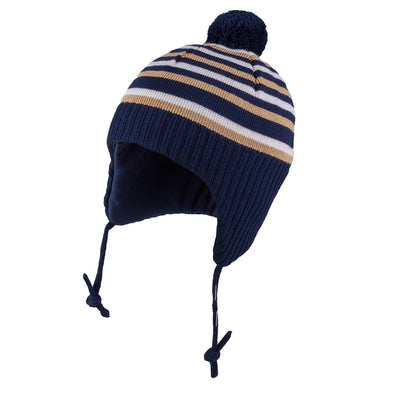 Cappello Polar Bear a Righe Navy