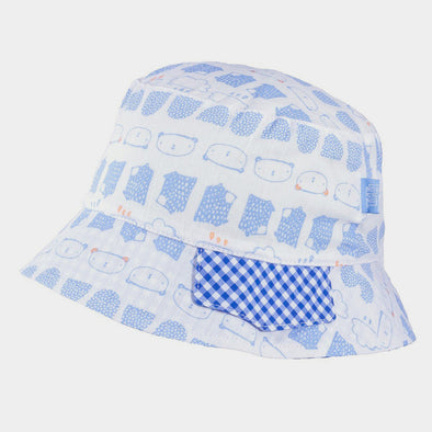 Cappellino da Sole Orso Light Blue White