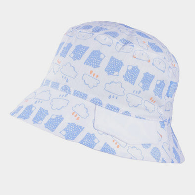 Cappellino da Sole Nuvola Light Blue White