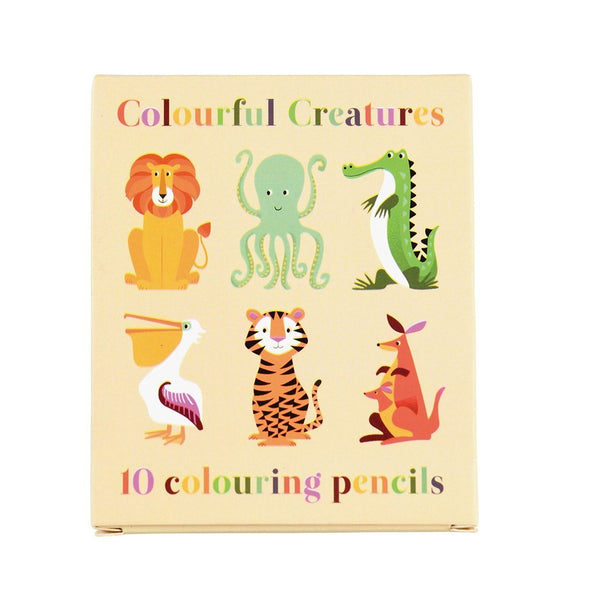Set 10 Matite Colorate Colourful Creatures