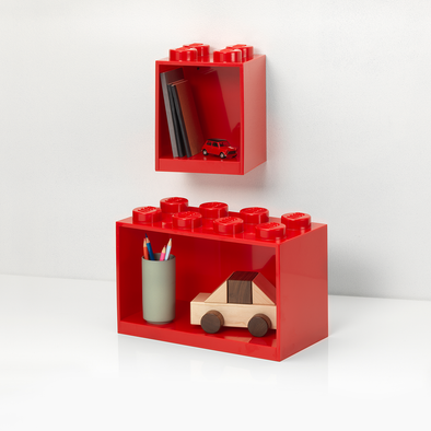 Set da 2 Mensole Lego Red