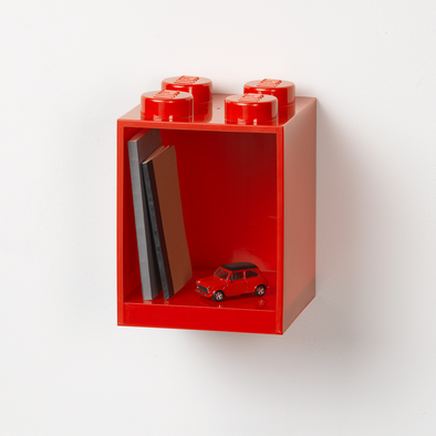 Mensola Lego 4 Knobs Red