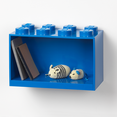 Mensola Lego 8 Knobs Blue