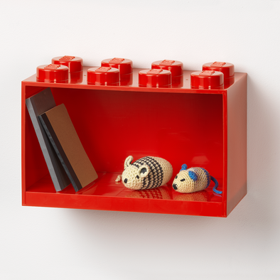 Mensola Lego 8 Knobs Red
