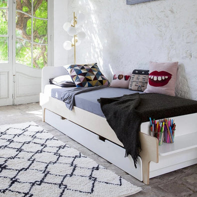 Letto River Twin Birch White | OEUF | RocketBaby.it