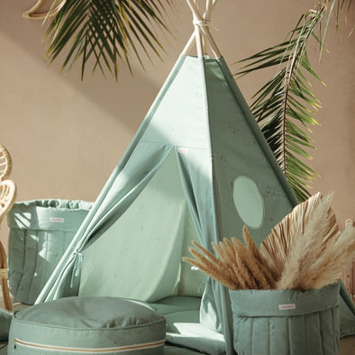 Set Tenda Teepee Minty Green | WIGIWAMA | RocketBaby.it