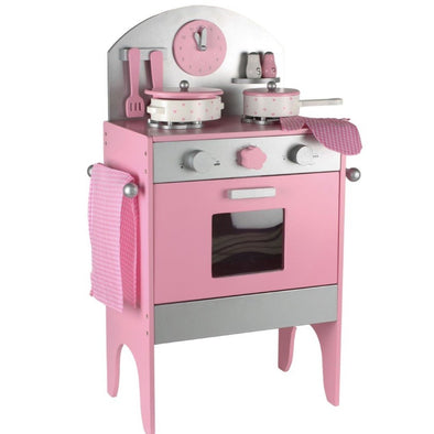 Cucina da Gioco Wooden Stove Pink | MAGNI TOYS | RocketBaby.it
