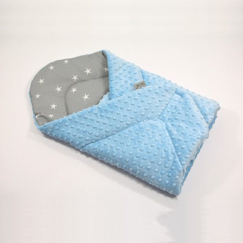 Trapunta Cocoon Stars & Minky Baby Blue | TINY STAR | RocketBaby.it