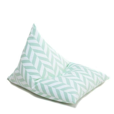 Poltrona Sacco Mint Herringbone | WIGIWAMA | RocketBaby.it