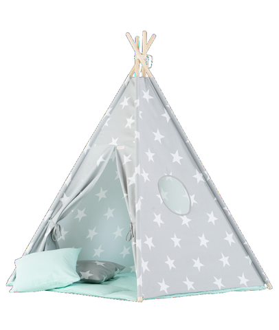 Set Tenda Teepee Big Stars e Mint Mat | WIGIWAMA | RocketBaby.it