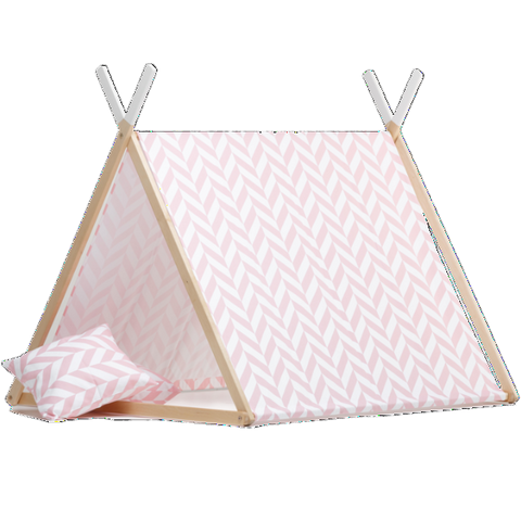 Tenda Gioco Pink Herringbone | WIGIWAMA | RocketBaby.it