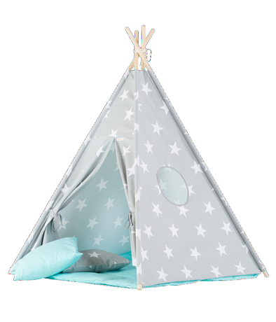 Set Tenda Teepee Big Stars e Blue Mat | WIGIWAMA | RocketBaby.it
