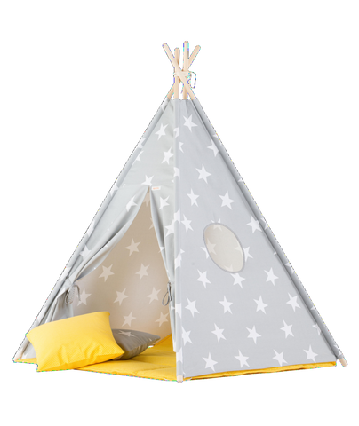 Set Tenda Teepee Big Stars e Yellow Mat | WIGIWAMA | RocketBaby.it