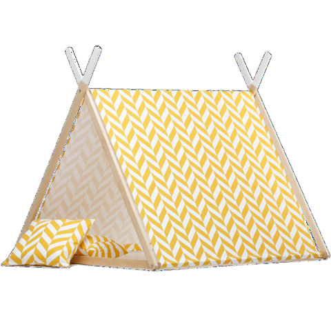 Tenda Gioco Mustard Herringbone | WIGIWAMA | RocketBaby.it
