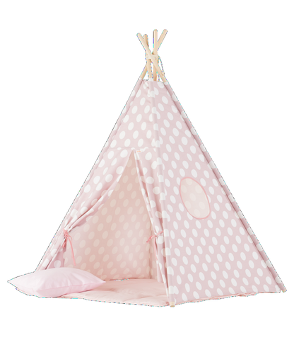 Set Tenda Teepee Large Pink Dots | WIGIWAMA | RocketBaby.it