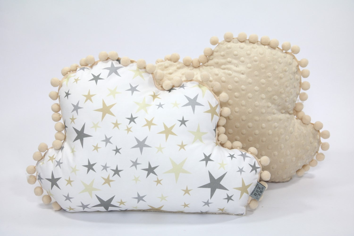 Cuscino A Forma Di Nuvola.Tiny Star Cuscino Nuvola Golden Dust E Minky Beige Rocketbaby