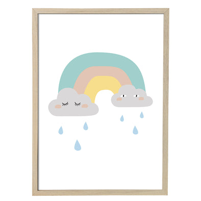 Poster con Cornice Rainbow | BLOOMINGVILLE | RocketBaby.it