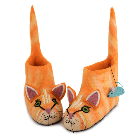 Pantofole Adulto Ginger il Gatto | SEW HEART FELT | RocketBaby.it