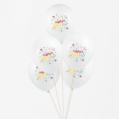 Set da 5 Palloncini Tattooed Happy Birthday