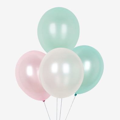 Set da 10 Palloncini Metallic Mermaid