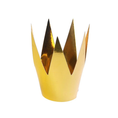 Set da 3 Cappelli di Carta Crowns Gold 5,5 cm