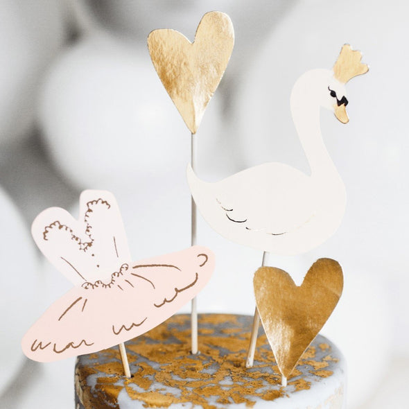 Set da 4 Decorazioni Dolci Lovely Swan