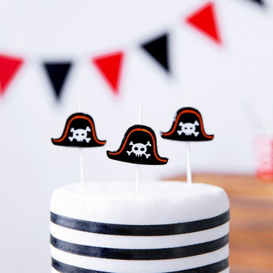 Set da 5 Candeline Pirates Party 2 cm