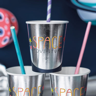 Set da 6 Bicchieri di Carta Space Party 200ml