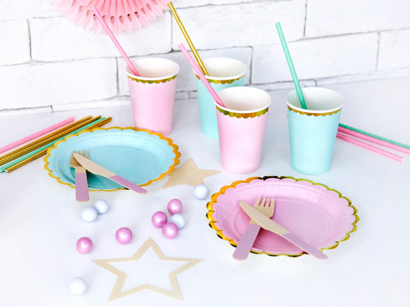 Set da 6 Piatti di Carta Light Pink 18cm