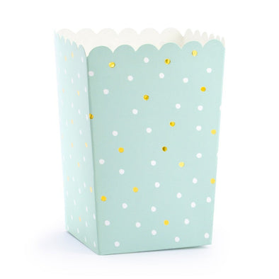 Set da 6 Scatole per Pop Corn Dots Light Blue