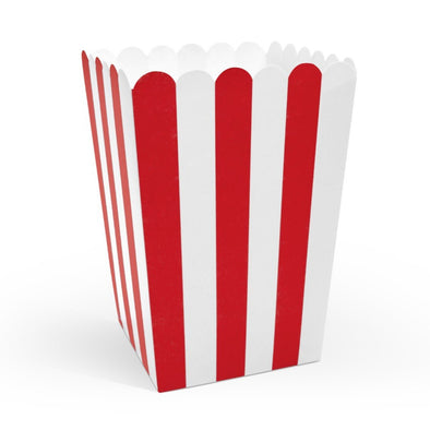 Set da 6 Scatole per Pop Corn Red Mix