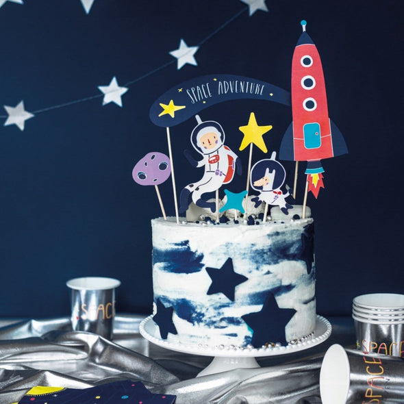 Set da 9 Decorazioni Dolci Toppers Space