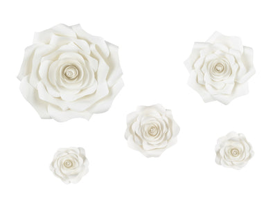 Set Decorazioni da Parete Flower Light Cream Mix