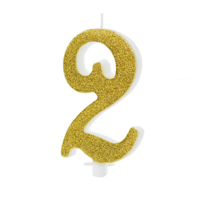 Candelina Birthday Numero 2 Gold 10 Cm