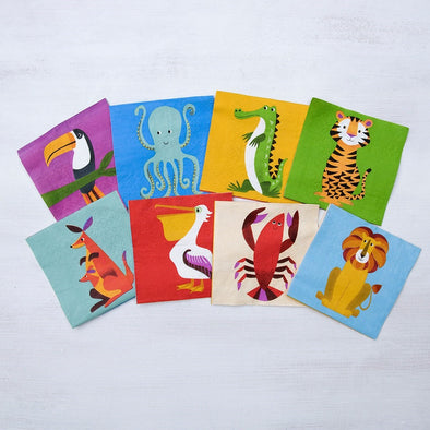Set da 20 Tovaglioli di Carta Coloroful Creatures