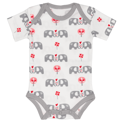 Body Manica corta Elefante Grigio | KUK | RocketBaby.it