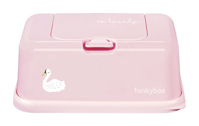 Box PortaSalviettine Umidificate Swan Old Pink | FUNKY BOX | RocketBaby.it