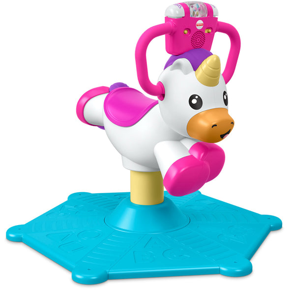 Gioco da Cavalcare Bounce and Spin Unicorn | FISHER PRICE | RocketBaby.it