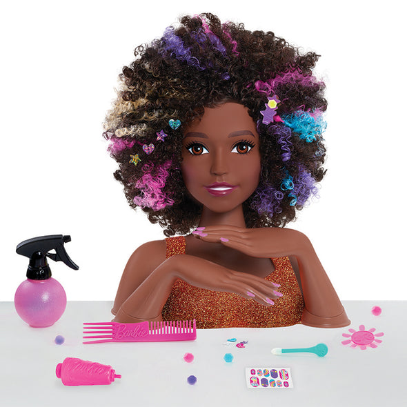 Bambola da Pettinare Barbie Sparkle Deluxe Afro Hair | FLAIR | RocketBaby.it