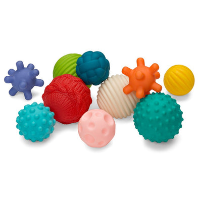 Set da 10 Giochi Sensoriali Textured Multi Ball | INFANTINO | RocketBaby.it