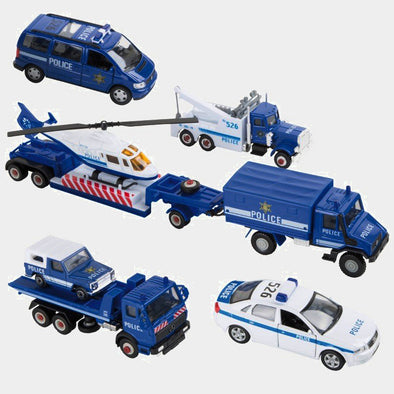Set da 9 Automodelli Polizia | LEGLER | RocketBaby.it
