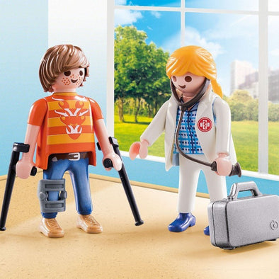 Playmobil Paziente e Dottore City Life | PLAYMOBIL | RocketBaby.it