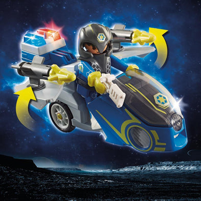 Playmobil Set Motocicletta Polizia Galaxy | PLAYMOBIL | RocketBaby.it