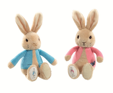 Peluche Sonaglio Peter e Flopsy Rabbit | RAINBOW DESIGNS | RocketBaby.it