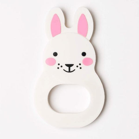 Anello in Silicone da Mordere Coniglietto | ROSA AND BO | RocketBaby.it