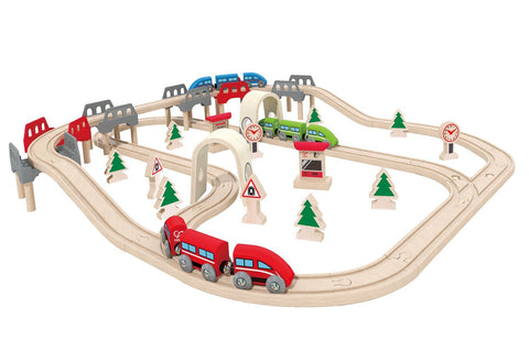 Set Pista Treno Sali e Scendi | HAPE | RocketBaby.it