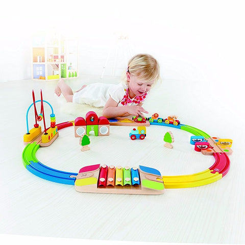 Set Pista Treno Rainbow | HAPE | RocketBaby.it