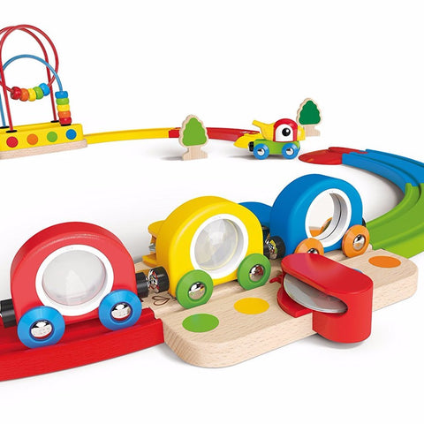 Set Pista Treno Sights & Sounds | HAPE | RocketBaby.it