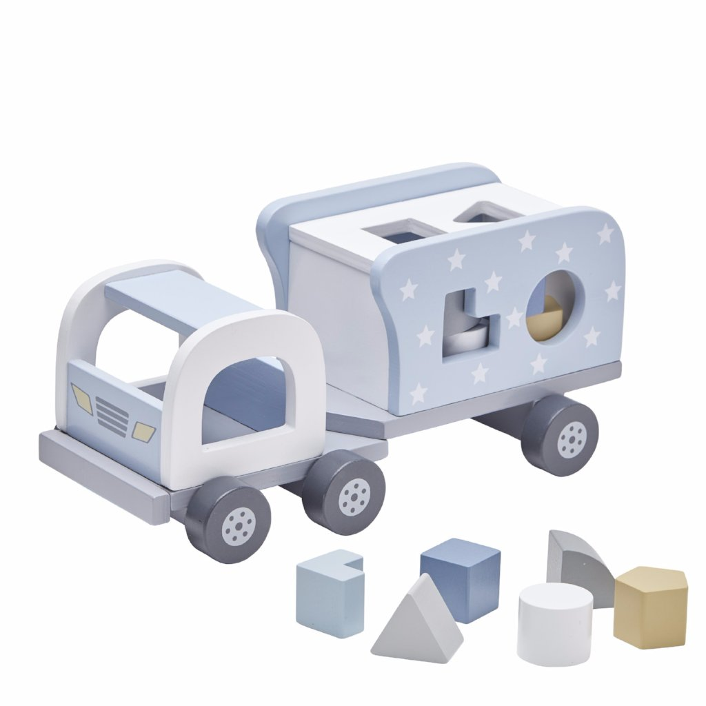 Camion con Blocchi Legno blue | KIDS CONCEPT | RocketBaby.it