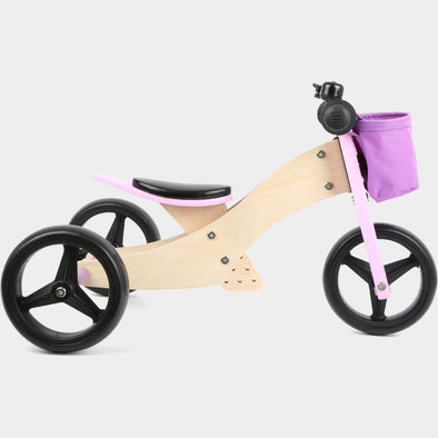 Bici Triciclo Trike 2 in 1 Rosa | LEGLER | RocketBaby.it